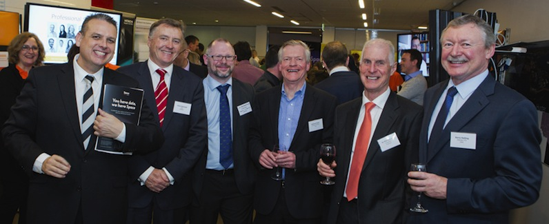 Image - Marc Bailey at the Intersect Showcase 2014 with, (left to right), Chris Hancock, Luc Betbeder-Matibet, Andrew Powe, Phil McCrea and Kerry Holling.