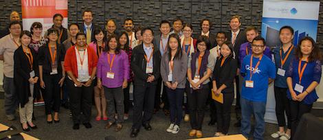 Image - International journalists visiting Intersect's RDSI node