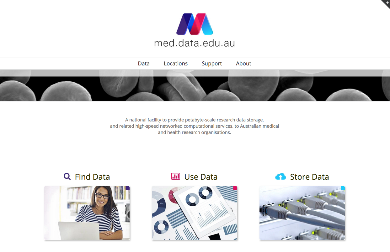 med.data.edu.au homepage