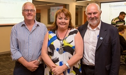 Image - CSU Executive Dean of Science Professor Tim Wess, Family and Community Services Ms Donna Argus and Wagga Mayor Cr Rod Kendall