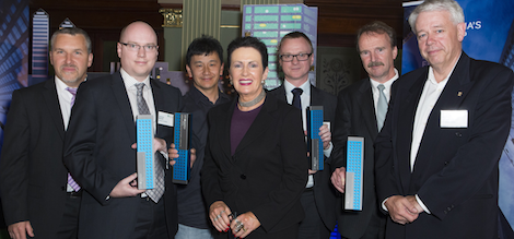 Image - Intersect's Dr Cameron Maxwell (second from left) with Sydney Lord Mayor Clover Moore and Nick Hudson from RICS, third from right.