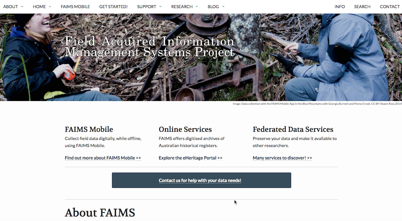 FAIMS homepage